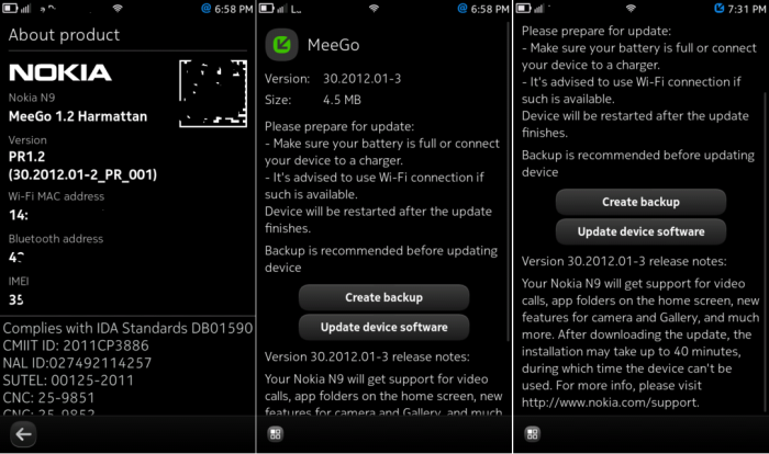 N9 calendar feed not updating