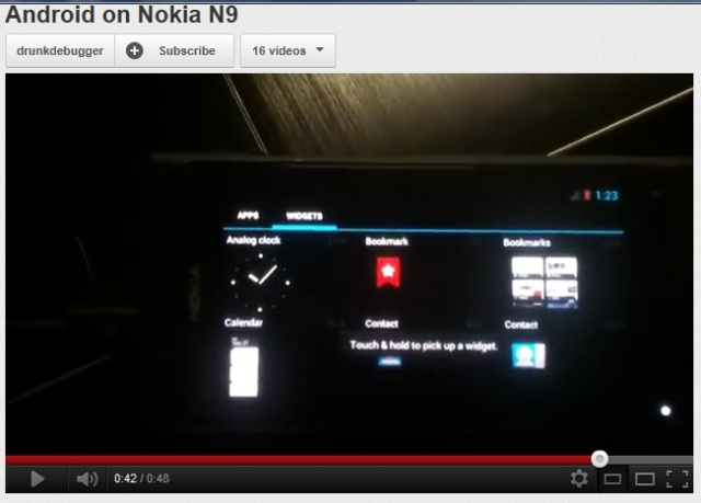 N9 running Android (ICS) Ice-cream sandwitch, A dual booting