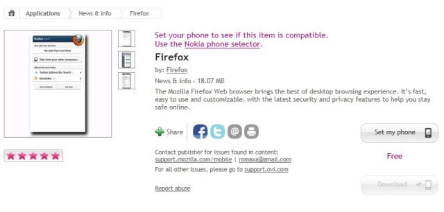 Mozilla Firefox Web browser for N9 now available at Nokia