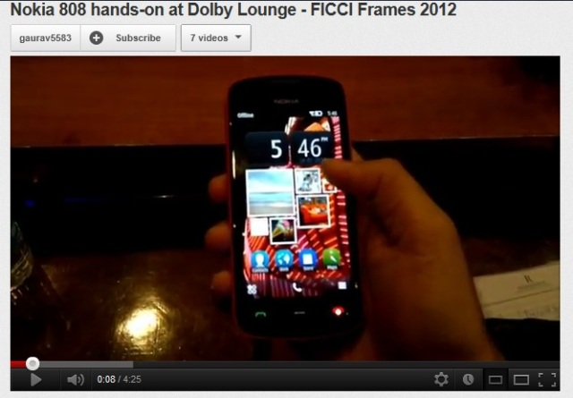 808 Pureview New Hands On Video Gallery Photo Zoom Music Player