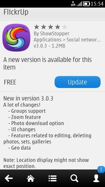 Flickr application for Symbian devices