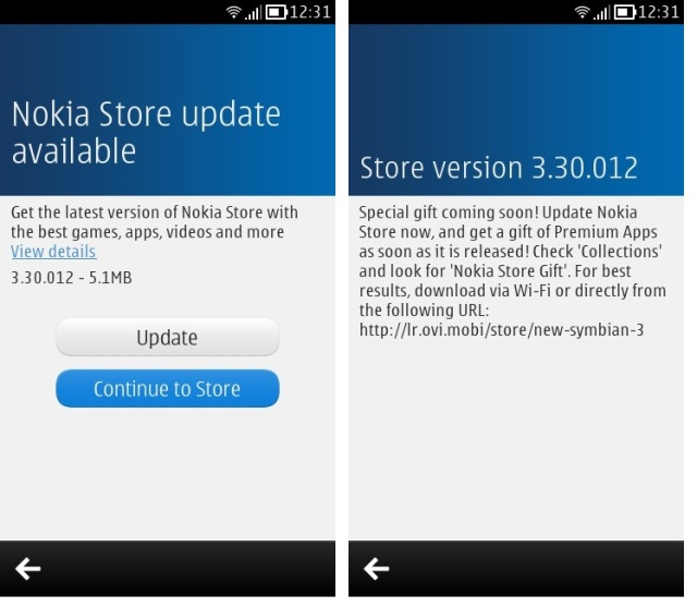Nokia store for Symbian Belle devices gets updated to