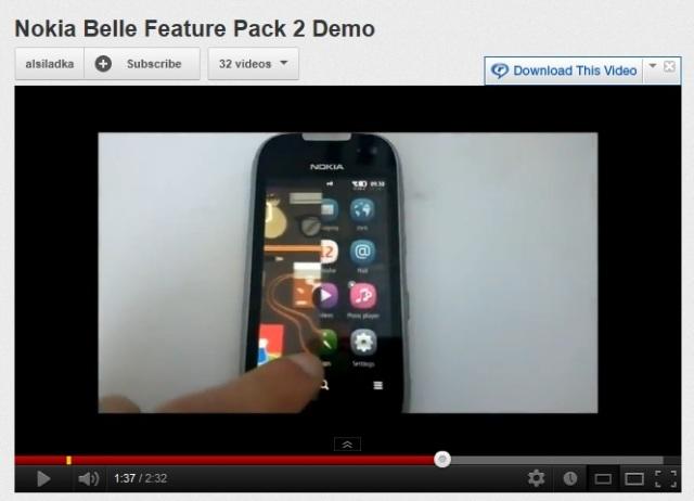 Symbian/Nokia Belle FP2 demo video on 701  Swipe, New