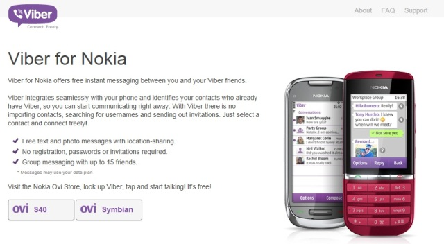 Viber comes to Symbian and S40 devices  Confirms HD voice