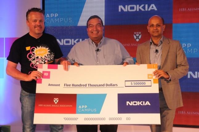 Pekka-Sivonen-Head-of-AppCampus-Ravi-Gururaj-Co-founder-HBS-Alumni-Angels-India-Chapter-and-Gerard-Rego-Director-Developer-Experience-Nokia-India-645x428